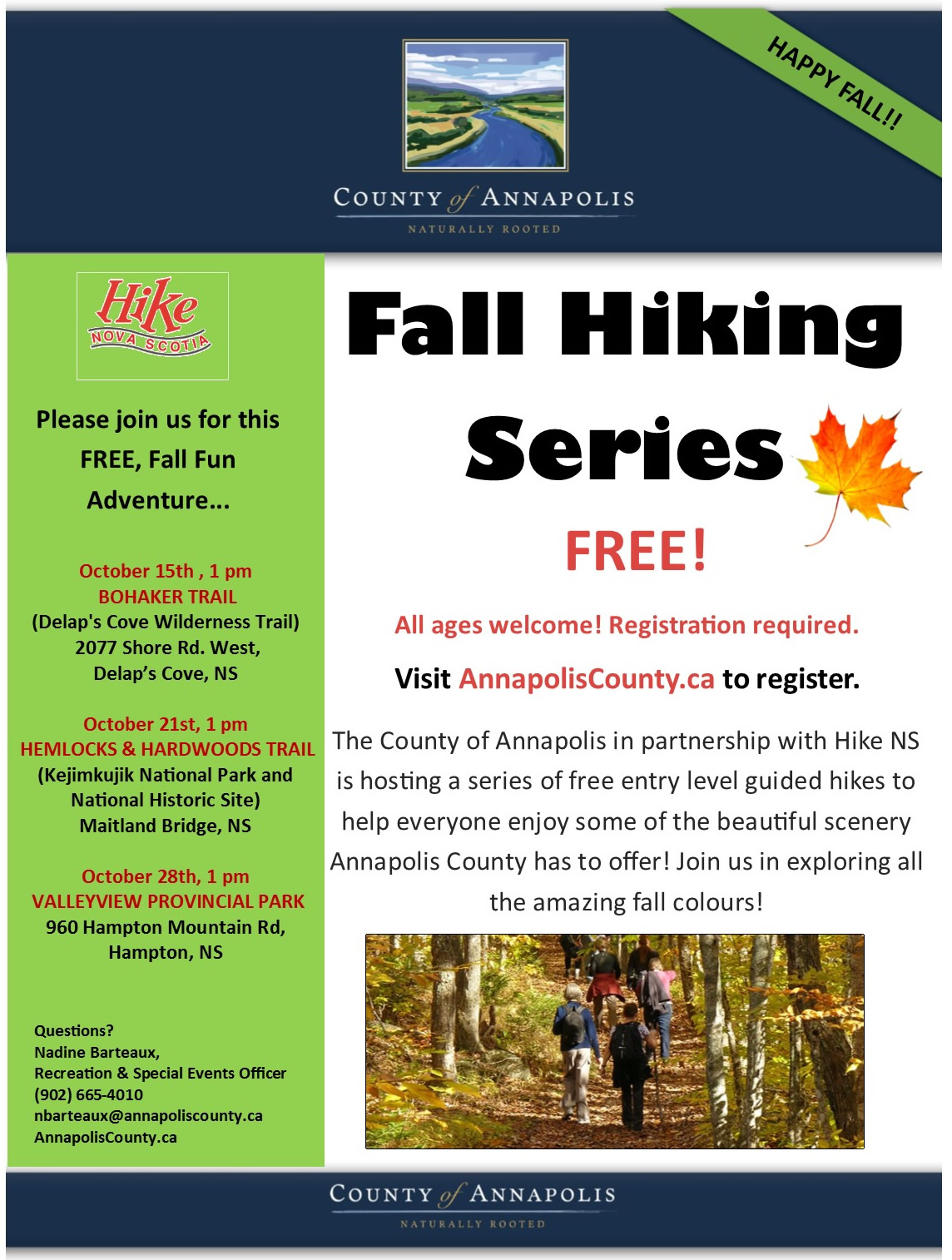2017 Fall Hiking Series poster