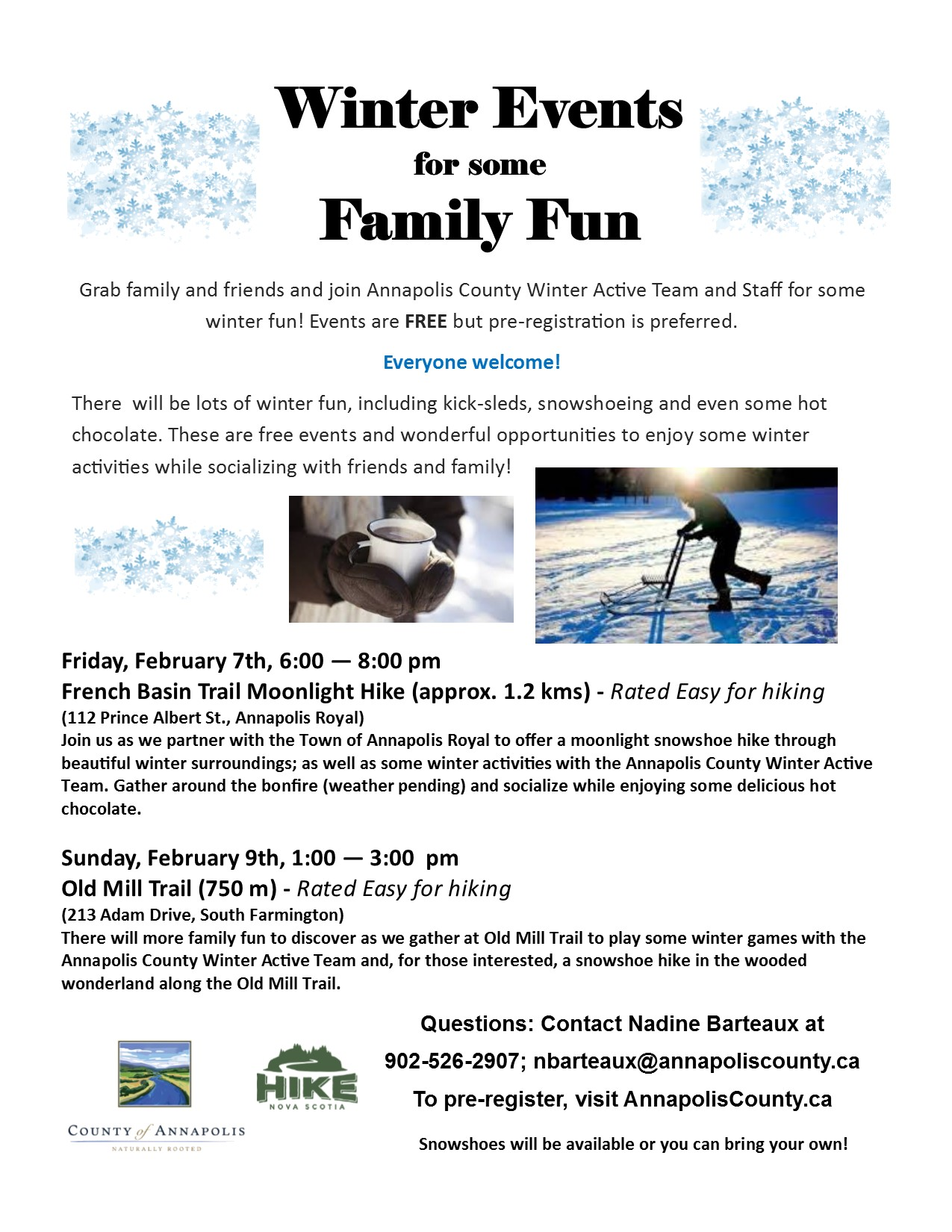 Winter Family Activites poster II