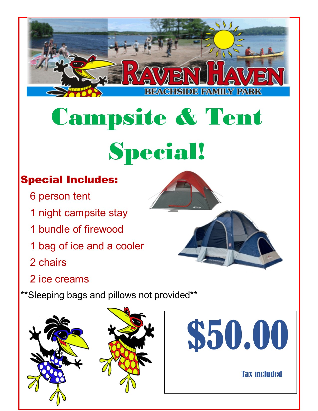 Campsite and tent special 2016