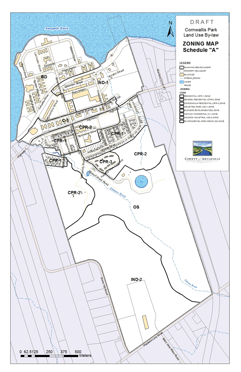 CORNWALLIS PARK ZONING MAP OCT 2013